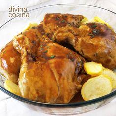 Este pollo a la miel es delicioso, tierno, jugoso y muy aromático gracias a las…