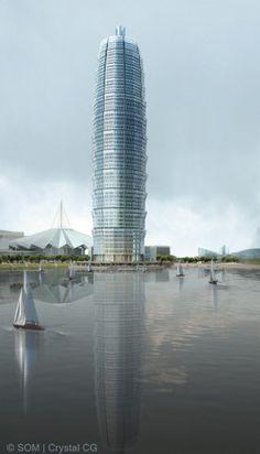 Zhengzhou Greenland Plaza, China, by SOM.