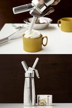 Creative Cream canister - For making foams, sauces, savory mousses and whipped cream using natural ingredients.
