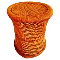 Check out this item at One Kings Lane! Midcentury Woven Californian Stool