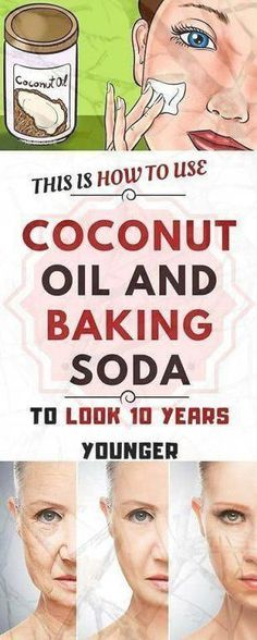 This Is How To Use Coconut Oil And Baking Soda To Look 10 Years Younger If you have problems with wrinkles and sagging facial skin, do not worry Natural Face Cleanser, Natural Exfoliant, Natural Skin, Natural Health, Baking Soda Face, Baking Soda Shampoo, Was Ist Soda, Baking Soda Dark Circles, Face Mask Ingredients