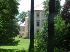 Březno- chateau from the park (distr. Mladá Boleslav, central Bohemia)