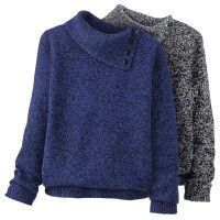 Marled Envelope Neck Sweater