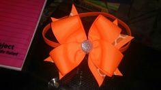 Orange headband bow