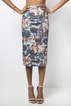 Cezanne Midi Pencil Skirt #floral #high-waist #midi #pencil-skirt #women #womens #zipper