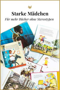 """Wie ich Kinderbücher zensiere (plus unsere """"Top Bücher über starke Mädchen) Books about strong girls. Picture books without sexism and genderism. Children's books with feminism and equality. Look into the book: www. Parenting Books, Gentle Parenting, Parenting Teens, Look At The Book, Activity Board, Kids Growing Up, Developmental Toys, Top 5"""