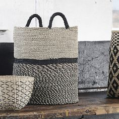 Seagrass Baskets Design Vintage