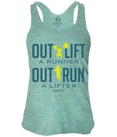 Out lift a Runner Out run a Lifter thats what CrossFit is all about!