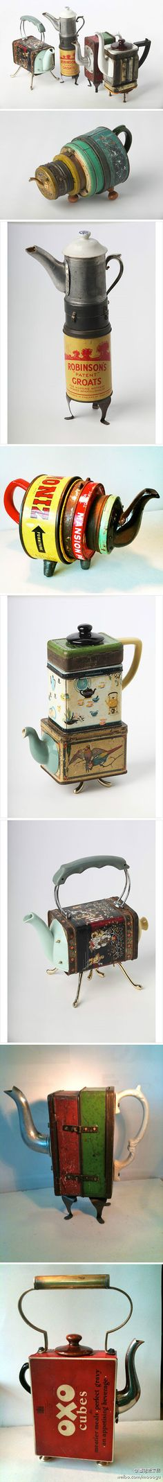 steampunk tea pots