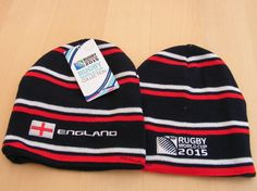 This England Rugby World Cup 2015 beanie hat is part of the official RWC 2015 range of country team Rugby beanies. An acrylic knitted beanie with embroidered artwork ideal for the England Rugby team supporter. England Rugby World Cup, England Rugby Team, 2015 Rugby World Cup, Beanies, Beanie Hats, Pin Badges, Knit Beanie, Knit Hats, Beanie