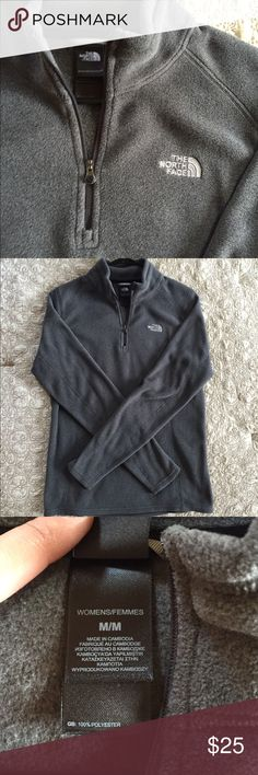 North Face Fleece Size medium quarter zip fleece, only worn a couple times. The North Face Sweaters Crew & Scoop Necks