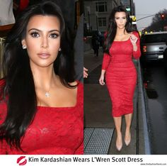 Red dress kim kardashian feet