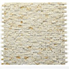 Solistone Modern Fauve 12 in. x 12 in. x mm Marble Natural Stone Mesh-Mounted Mosaic Wall Tile sq. / case) 4024 at The Home Depot - Mobile Mosaic Wall Tiles, Marble Mosaic, Stone Mosaic, Stone Tiles, Fireplace Facade, Fireplace Wall, Fireplace Ideas, Marble Subway Tiles, Marble Wall