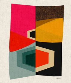 """Quilty inspiration: """"the nameless one"""" print from Inaluxe."""