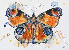 Peacock Butterfly by Zaira Dzhaubaeva