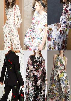 Pre Spring/Summer 2016 Catwalk Print & Pattern Trend Highlights - Tory Burch / Isola Marras / Erdem / Stella McCartney / Ellie Saab / Monique Lhullier