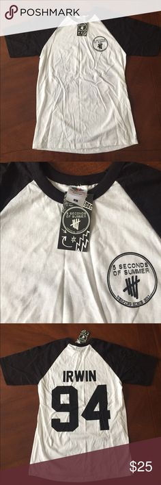 5 Seconds of Summer (5SOS) Ashton Irwin T-Shirt Size small. New with tag. 5 Seconds Of Summer Tops Tees - Short Sleeve