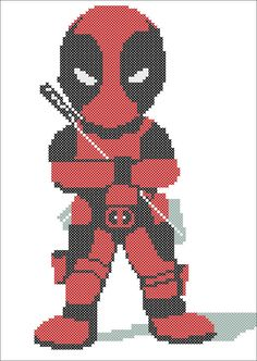 BOGO FREE Cross stitch pattern  DEADPOOL pdf by Rainbowstitchcross