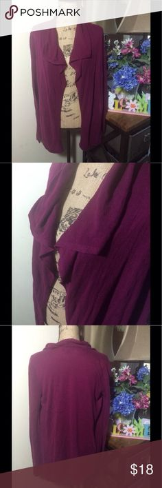 GAP Deep Purple Open Cardigan GAP Deep Purple Open Cardigan; this is super comfy and fun to wear; it is gently used and is overall in good condition 💜 size S GAP Sweaters Cardigans