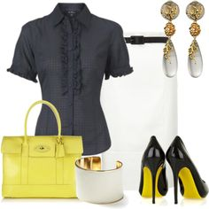 Estilo Formal by outfits-de-moda2 on Polyvore featuring polyvore fashion style Ben Sherman Alexander McQueen Mulberry Banana Republic Alexis Bittar