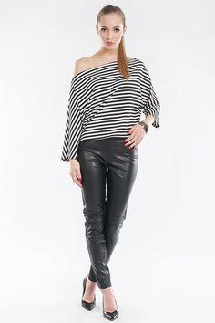Bluzka w paski SL1058 www.fajne-sukienki.pl Tops, Women, Fashion, Moda, Fashion Styles, Fashion Illustrations, Woman