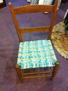 Ordinaire Homespun And Burlap Woven Chair Seat « Rags N Rhinestones