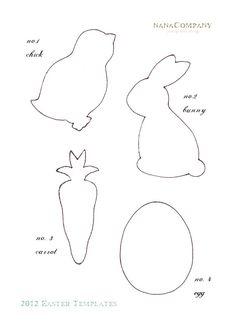 483 best Easter templates images on Pinterest   Easter bunny, Easter ...