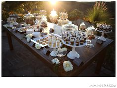 what a beautiful dessert table, do you LOVE @Kristen Kelley? Have yours and steve's fav desserts!