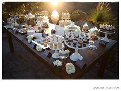Hummingbird Nest Ranch Wedding : Nicole+Matt  I'm loving dessert tables more and more