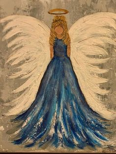Christmas Paintings, Christmas Art, Angel Artwork, Angel Drawing, Easy Paintings, Angel Paintings, Angel Pictures, Art Abstrait, Learn To Paint