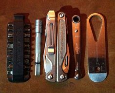 "EDC Kit | Includes Leatherman Bit Kit • Leatherman 4"" Extender • Leatherman Charge • Chapman Micro Wrench • PocketWrench II"