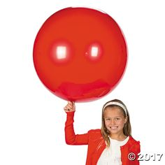 Jumbo Ruby Red 36 Latex Balloon - OrientalTrading.com to make giant ornaments