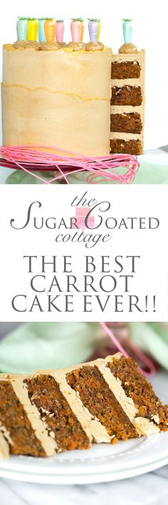 The Best Carrot Cake Recipe Ever – The Sugar Coated Cottage The most moist, carrot packed, delicious carrot cake. The Best Carrot Cake Recipe Ever – The most moist, carrot packed, delicious carrot cake. Sweet Recipes, Cake Recipes, Dessert Recipes, Just Desserts, Delicious Desserts, Best Carrot Cake, Cake Board, Cake Ingredients, Easter Treats