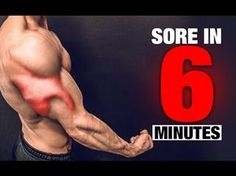 Brutal Triceps Workout (SORE IN 6 MINUTES!) https://www.youtube.com/watch?v=P01H0XpNpk0