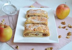 Baking Recipes, French Toast, Sandwiches, Vegetarian, Breakfast, Ethnic Recipes, Food, Apple Strudel, Apple Cakes