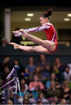 Kyla Ross of Team USA competes on the uneven parallel bars during event finals for the 2012 Kellogg's Pacific Rim gymnastics meet.  Ross would take silver on the event.