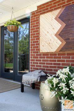 Outdoor wood wall decor