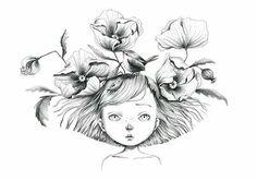 petite fille cheveux dans le vent