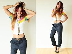 Rainbow (by Patricia Prieto) http://lookbook.nu/look/3624309-Rainbow