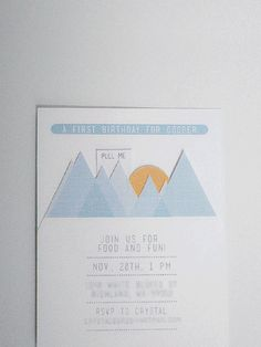 invitations for an 'up' birthday party theme / by randi at swoon