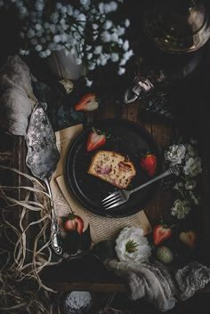 Strawberry Buckwheat Hot Milk Cake (Vegan & Dairy-free) | collab. with | TermiNatetor Kitchen | A food and photography blog