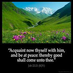 Job 22:21 (KJV)