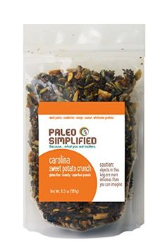 Paleo Simplified Super Crunch Granola | Gluten Free Dairy Free Snack | Raw Organic Ingredients | Carolina Sweet Potato *** Check this awesome product by going to the link at the image.