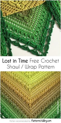 Lost in Time Free Crochet Shawl / Wrap Pattern One Skein Crochet, Crochet Shawl Free, Crochet Wrap Pattern, Crochet Shawls And Wraps, Love Crochet, Crochet Scarves, Crochet Clothes, Crochet Patterns, Crochet Shrugs