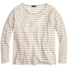 J.Crew Collection Featherweight Cashmere Long-Sleeve T-Shirt ($215) ❤ liked on Polyvore featuring tops, t-shirts, long sleeve t shirts, j crew tee, layering tees, long sleeve tee and j crew t shirts