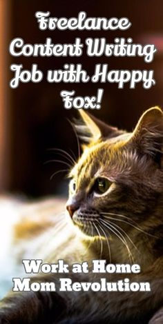 Freelance Content Writing Job with Happy Fox! / Work at Home Mom Revolution