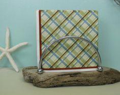 Driftwood Napkin Holder, Nautical Table Centerpiece, Spalted Driftwood Napkin Holder,