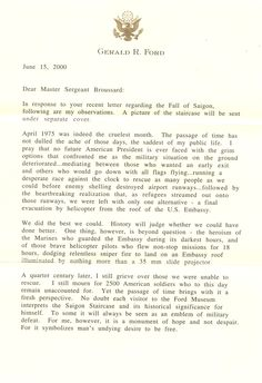 President Ford's Letter To the Fall of Saigon Marines