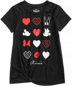 Disney Disney's Minnie Mouse Hearts & Dots T-Shirt, Big Girls (7-16)