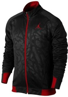 Jordan S.Flight Jacket - Men's - Basketball - Clothing - Black/Gym Red